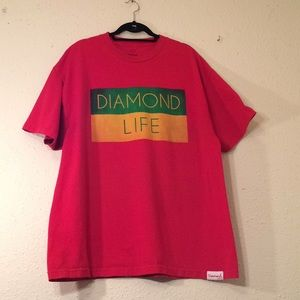 Diamond supply co. 2XL s/s Red graphic Tee (201)